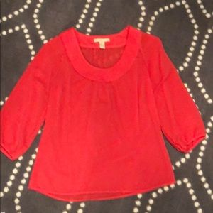 Coral Banana Republic blouse. Like new! Worn once.